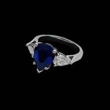 This stunning platinum ring from the Pearlman's Collection shines with a 3.72ct. sapphire framed by 1.40cts. in diamonds.