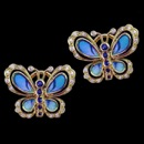 What a lovely pair of blue sapphire and diamond butterfly earrings. These earrings are made from 18k gold and feature 5 blue sapphires and 10 diamonds on each earrings. The total diamond weight of the sapphires is 0.20tcw and the total carat weight of the 0.20tcw.