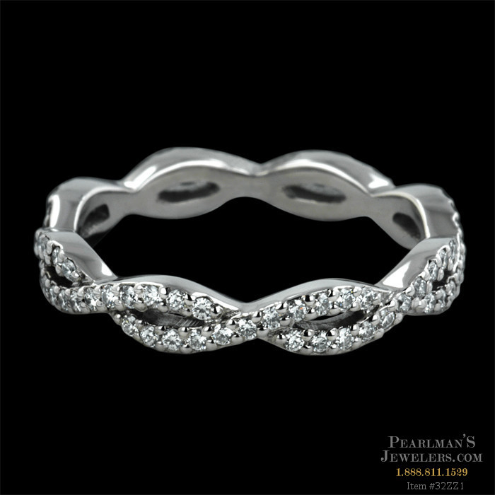 sterling cz infinity band bands diamond silver
