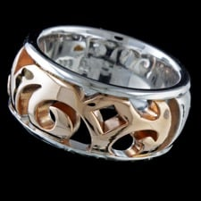 Closeout Jewelry Bastian Inverun Silver rose gold ring