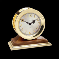 Chelsea Clocks Concord Non-striking Mechanical Clock in Brass on Walnu