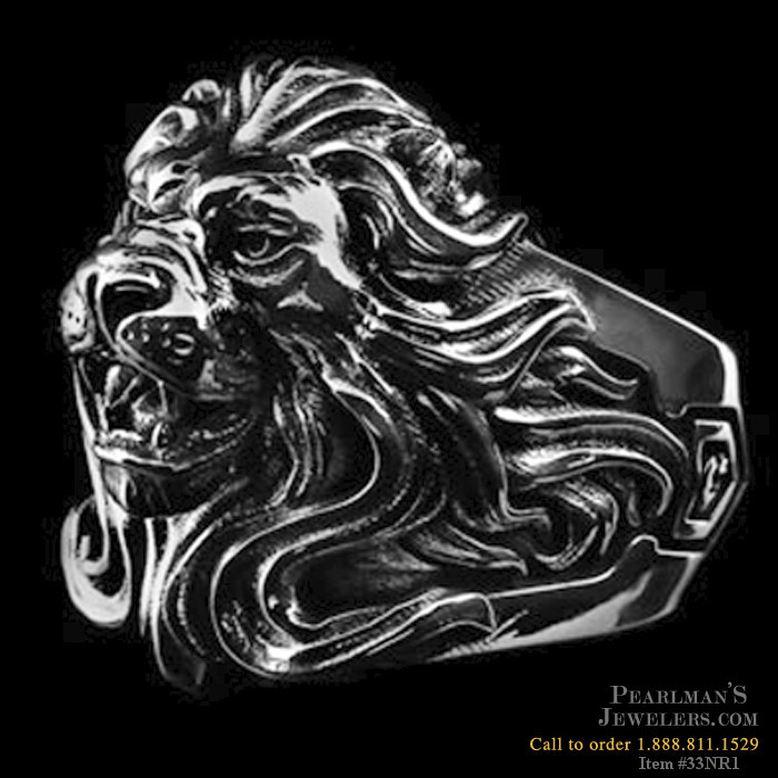 Nightrider Silver Royal Blood Lion Ring