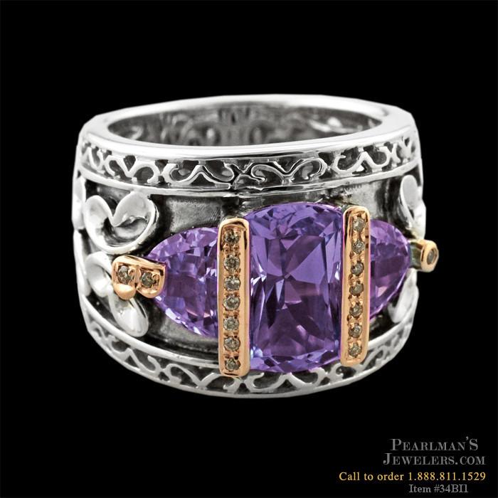 bellarri jewelry amethyst sterling silver ring