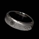 George Sawyer's 14kt white gold and sterling silver wedding band. Truly a work of art. The ring is 6mm in width.