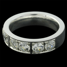 Charles Green Charles Green 18kt white gold diamond wedding band