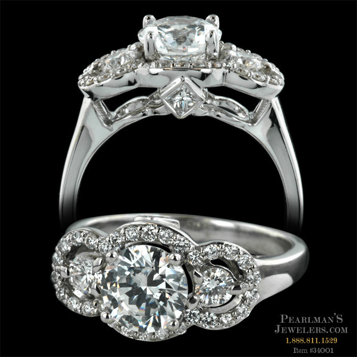 Peter storm 39 s 18 karat white gold naked diamonds semi mou for Do jewelry stores finance engagement rings