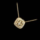 Simply perfect, this 18kt yellow gold and diamond pendant from Beverley K features .22ct of diamonds. Measures 10mm wide.