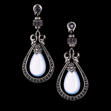 Scott Kay Sterling Blue Chalcedony drop earrrings