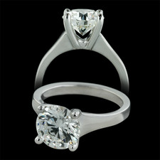 Sholdt  Platinum engagement ring by Sholdt