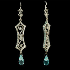 Cathy Carmendy Cathy Carmendy 18kt w.g. blue topaz & diamond earrings