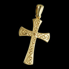 Charles Green Charles Green 18kt  Tendril engraved cross
