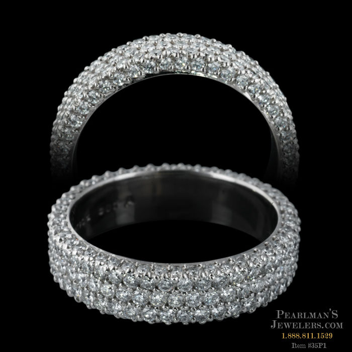 Michael b jewelry three row eternity ring for Michael b jewelry death