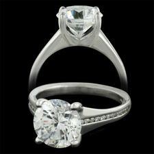 Sholdt  Sholdt platinum engagement ring with channel diamonds