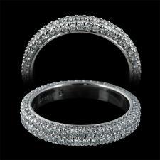 Michael B Jewelry Two Row Diamond Wedding Bands