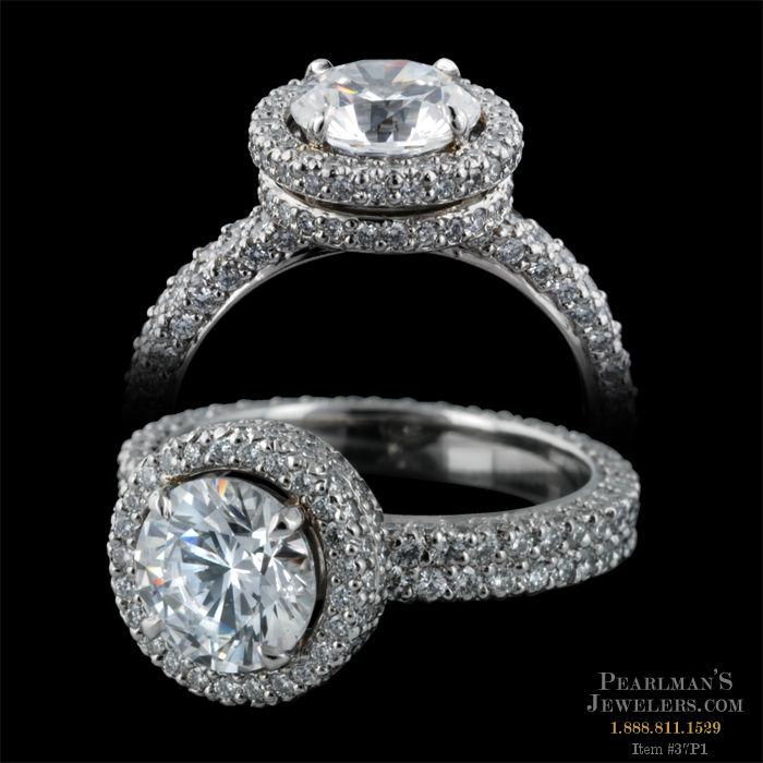 Michael b jewelry diamond platinum engagement ring for Michael b s jewelry
