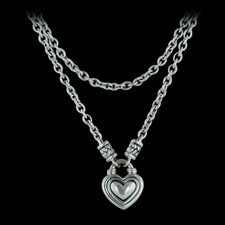 Ladies sterling silver baby heart toggle with graduated chain from Scott Kay Sterling, both 15