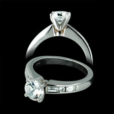 Closeout Jewelry platinum and diamond engagement ring