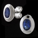 A stylish pair of sterling silver blue topaz earrings from Germany, Bastian Inverun. The earrings measure 7.5mm(width) x 9.5mm(height). .80ct. total weight in blue topaz.