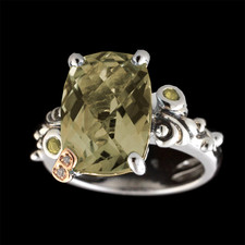 Bellarri Smokey quartz and citrine ring