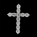 A brilliant platinum and diamond shared prong cross pendant from the Pearlman Collection. This cross features 1.00ct in F color, VS clarity, ideal cut round diamonds. A beautiful expression of faith.
