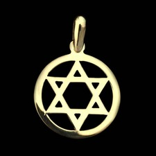 Religious Jewelry Charles Green 18kt Star of David pendant
