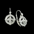 An attractive Fleur De Lis design by Beverley K is the focal point of these 18kt white gold pair of diamond earrings. These earrings have .44ct. total diamond weight.