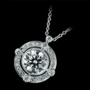 This stunning 18K white gold and diamond Beverley K pendant features .20ctw. of round diamonds. The center diamond is not included.