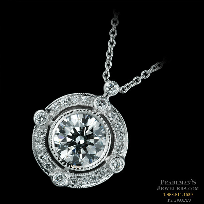 Beverley k jewelry 18kt white gold diamond halo semi mount pendant beverley k necklaces mozeypictures Image collections