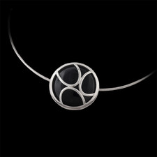 Bastian Inverun Bastian sterling silver and onyx pendant