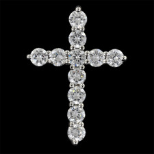 Pearlman's Bridal Platinum diamond cross