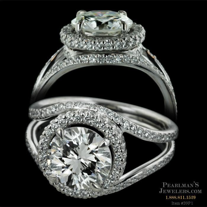 Michael b jewelry platinum trois romantique ring for Michael b s jewelry