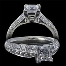 Harout R princess cut engagement ring