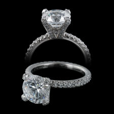 Michael B. Princess engagement band in platinum