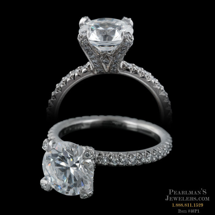 Michael b jewelry princess engagement band in platinum for Michael b s jewelry