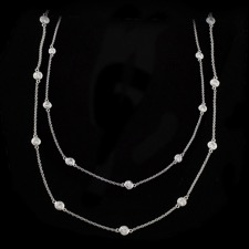 Pearlman's Bridal 18kt gold eternity necklace