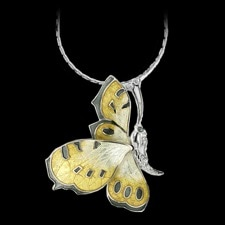 Nicole Barr Yellow butteryfly silver necklace