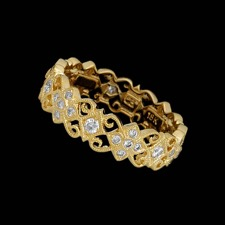 Beverley K 18kt yellow gold diamond lace wedding ring