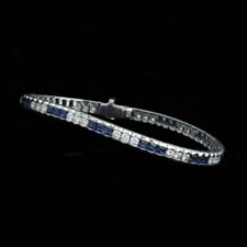 Balanced just right. Round diamonds and blue princess saphires set into white gold. Prices start from...