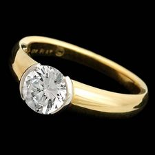 Michael Bondanza's 18kt yellow gold and platinum bezel Hudson engagement ring. For diamonds 1.0 to 1.25ct.  Center diamond not included.