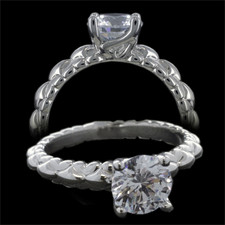 Harout R Platinum engagement ring Harout R