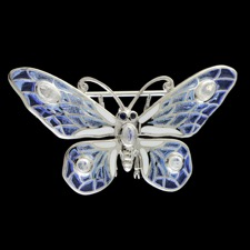 Nicole Barr Butteryfly silver pendant pin
