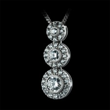 Beverley K 18kt white gold diamond drop pendant