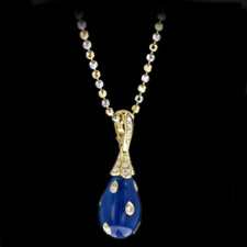 Pearlman's Collection 18kt yellow gold enameled and diamond pendant