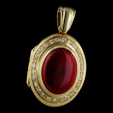 Charles Green 18kt yellow gold ruby pave diamonds