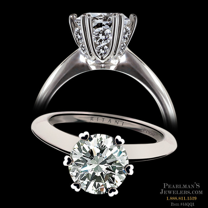 Ritani Micro Pave Diamond Engagement Ring