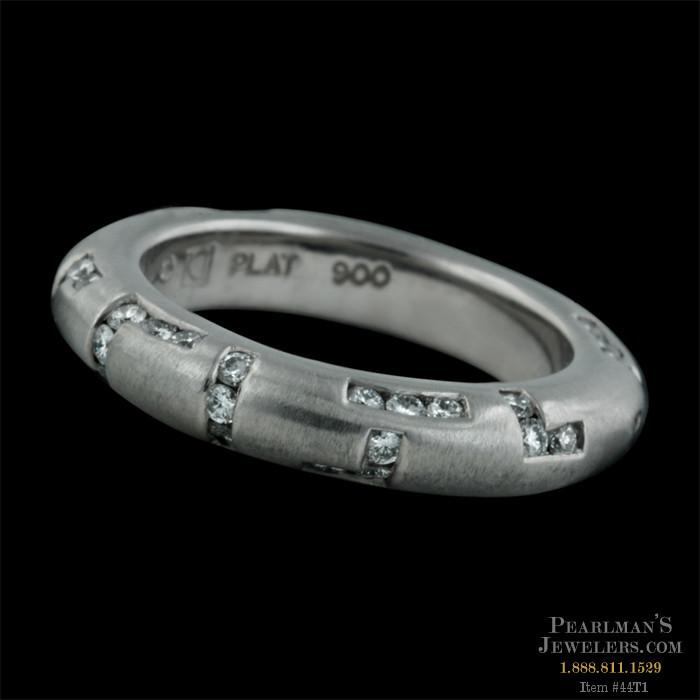 Eddie Sakamoto Jewelry Platinum Wedding Ring By Sakamoto