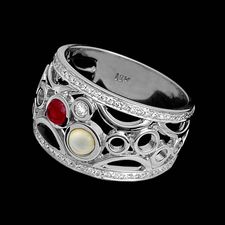 Chris Correia C. Correia 18kt white gold Champagne with Bubbles ring