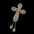 "The ""Tears for Me"" pendant represents the tears that flowed at the foot of the cross. The cross pendant is available in either 14kt white or yellow gold and is enhanced with diamonds."