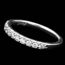 A fascinating platinum wedding band with .32ctw of diamonds by Scott Kay Designs.