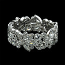 A fine platinum flora diamond eternity wedding band by Carl Blackburn. Platinum and expertly hand-set with 2.33 carats of diamonds. Featuring marquise diamond leaf forms. 8mm width.  Available in 18kt white gold.